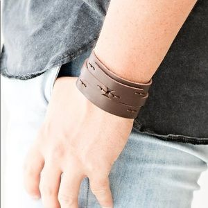 Paparazzi In or OUTLAW Brown Urban Bracelet NWT
